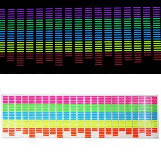 90 25cm Sound Music Activated Colourful Car Sticker Equalizer LED Flash Light