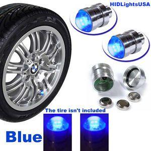 Purple Tire Wheel Lights Valve Stem LED Motorcycle Car