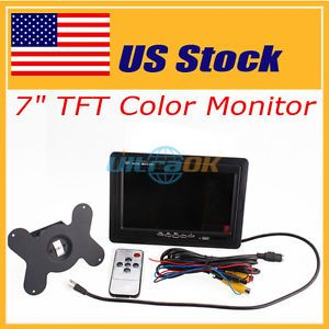 """US Stock 7""""Inth TFT LCD Car Rearview Mirror Monitor Camera for VCR DVD GPS Camer"""
