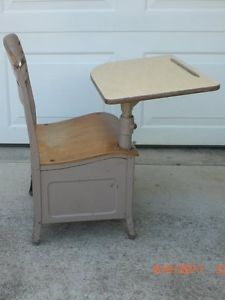 Antique Irwin Seating Company School Desk and Chair