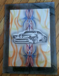 Car Pinstripe Flame Hot Rat Rod Tattoo Flash Airbrush Plastic Panel Art