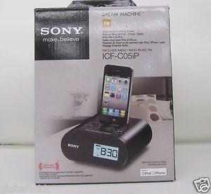 Sony Dream Machine Alarm Clock with FM Radio iPod iPhone Dock ICF C05IP