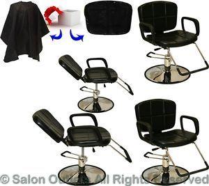 4 x Hydraulic Reclining Barber Chair Shampoo Hair Styling Salon Beauty Equipment