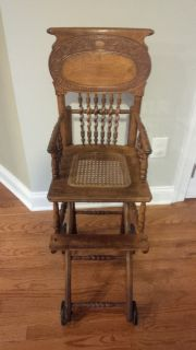 Antique Vintage High Chair Combo Baby Stroller
