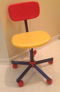 IKEA Kids Colorful Sturdy Rolling Desk Chair Used Mint Condition