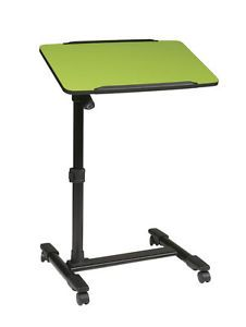 Rolling Modern Mobile Laptop Table Desk Cart in Green New Home Office Bed Desk