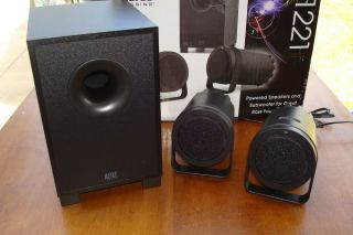 Altec Lansing BX1221 Speaker System w Subwoofer for Lap Desktops Netbooks