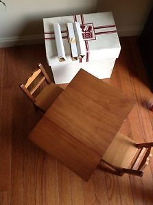 American Girl Molly's Drop Leaf Table Chairs Pleasant Company w Box