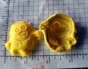 Minion C Flexible Push Silicone Mold Cake Cookie Crafts Clay Fondant Crayons