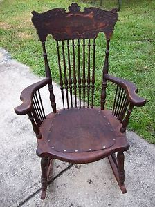 1800 39 s antique rocking chair with leather seat price dropped to move