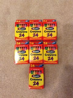 Rose Art Crayons 24 Count 7 Boxes New