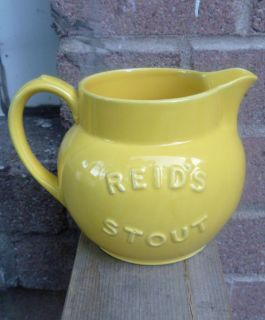 RARE Royal Doulton Lambeth Reid's Stout Yellow Advertising Beer Ale Pitcher Jug