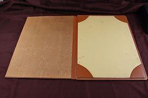 Vintage French Leather Desk Blotter Pad Blotting Paper Tan Folder Large 2 Sheets