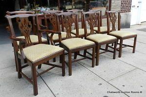 Fine Set 8 Mahogany Henkel Harris Virginia Galleries 101 Dining Room Chairs