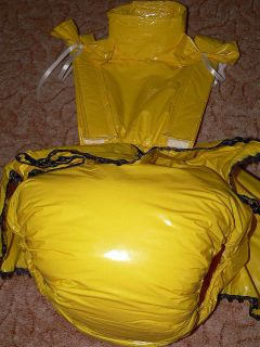 Adult Baby PVC Dress Thick Diaper Spreading Trouser Diaper Complette PVC