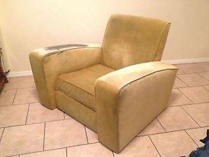 Vintage Antique French Art Deco Club Lounge Chair Armchair