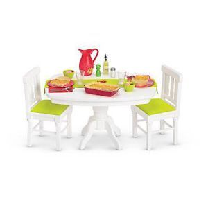 American Girl Dining Room Set Delicious Dinner New Sold Out Table Chairs