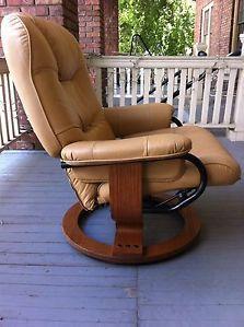 Ekornes Stressless Style Leather Mid Century Modern Vintage Retro Recliner Chair