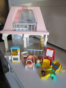 Little Tikes Vintage Dollhouse Stroller Baby Highchair Crib Kitchen Easel More