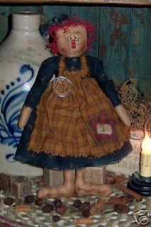 Primitive Raggedy Ann Grungy Annie Rag Doll Pattern 315