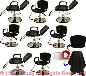 8 Reclining All Purpose Hydraulic Styling Barber Chair Shampoo Salon Equipment