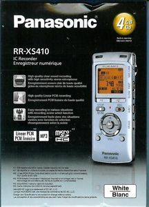 Q47 New Panasonic RR XS410 4GB IC Digital Voice Recorder w USB to PC Link White