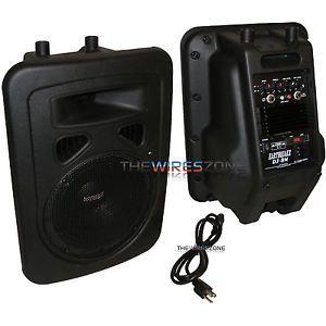"Earthquake Sound DJ 8M 2 Way Portable Powered 480W 8"" PA Monitor Speaker System"