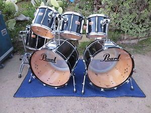 "Pearl MLX Maple 6pc Double Bass Drum Set Kit Drumset Dual 24"" Kicks Masters"