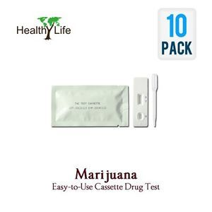 10 THC Home Marijuana Drug Test Kit Cassettes Strip Urine Test