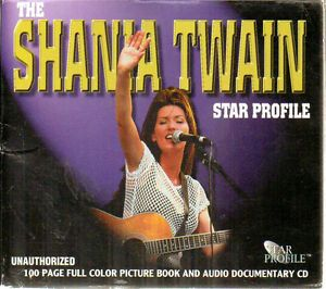 Shania Twain Star Profile Documentary CD and 100 Page Full Color Book 658926855725