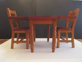 Pleasant Co American Girl Molly Wooden Drop Leaf Table and Chairs Retired