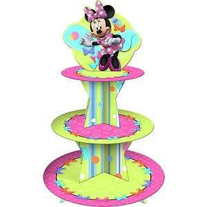 Disney Minnie Mouse Bow tique Cupcake Stand Birthday Party Supplies Baby Shower