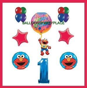 Elmo First 1st Birthday Party Supplies Decorations Balloons Sesame Street One