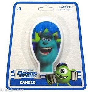 Monsters University Candle Birthday Party Supplies Cake Decoration Disney Pixar