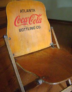 1930's 1940's Coca Cola Coke Atlanta Bottling Company Folding Chair Authentic