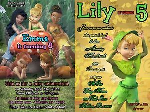 Disney Fairies Tinkerbell Invitations Party Supplies Avail 14 Styles