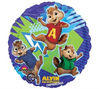 "17"" Alvin and The Chipmunks Chipwrecked Simon Theodore Balloon"