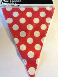 Minnie Mouse Mickey Mouse Hello Kitty Polka Dot Flag Banner Party Supplies