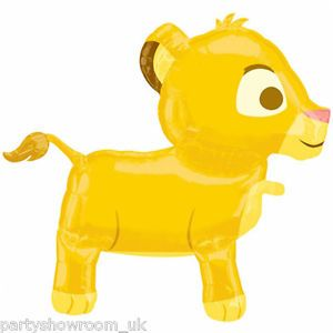 "30"" Disney The Lion King Baby Cub Simba Pet Party Foil Airwalker Balloon"