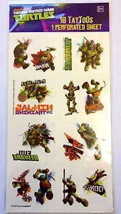 16 Teenage Mutant Ninja Turtles TMNT Tattoos Party Favor Teacher Supply