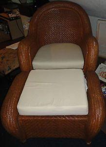 Ralph Lauren Rattan Wicker Chair Ottoman Sofa Loveseat And