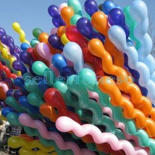 New Lot 30x Giant Spiral Balloons Great for Kids Parties Super Long Colorful