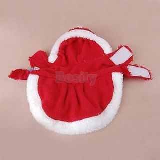 Red Fuzzy Warm Short Coat Pet Dog Girl Puppy Wedding Dress Hoodie Suit Clothes S
