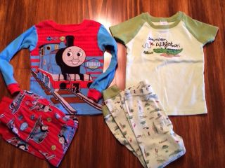 Boys Pajamas Lot Thomas The Train and See Ya Later Alligator 3T or 2T