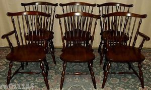 Pennsylvania House Cherry Spindle Back Windsor Dining Room Chairs Set Of 6  ...