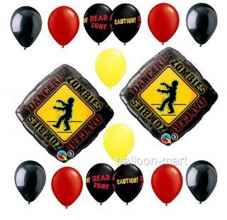 Balloons The Walking Dead Party Zombie apocolypse Theme Birthday Supplies Dead