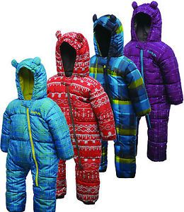 DARE2B Bugaloo Snowsuit Kids Babies Padded All in One 0 6 mths to 3 4 Yrs