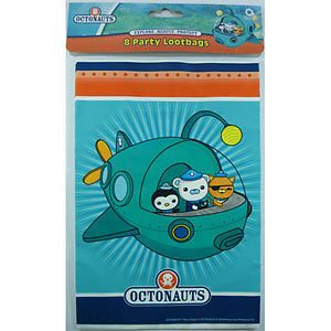 Octonauts Theme Lolly Loot Bags x 8 Party Decorations Supplies