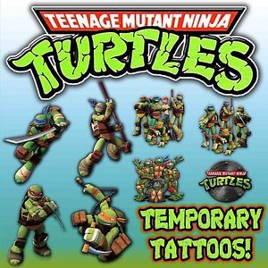 TMNT Turtles Temporary Tattoos Favors Decorations Birthday Party Labels Supplies