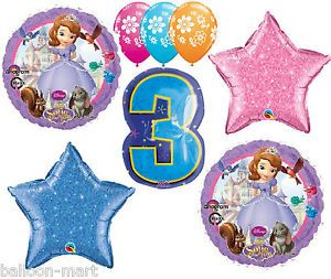 Disney Princess Sophia Party Supplies Decorations 3rd Birthday Girls Third Three